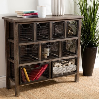 Renate CIRQUE Accent Metal Bin Console Table