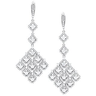 Sterling Silver Cubic Zirconia Gala Earrings