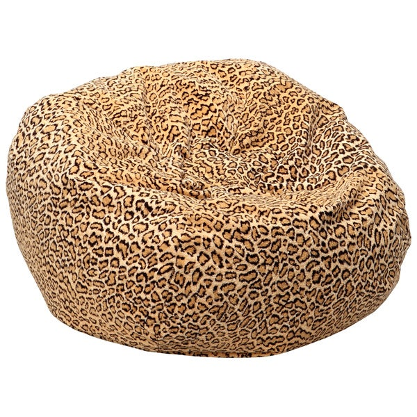 Shop Xxl Safari Micro Fiber Suede Animal Print Bean Bag