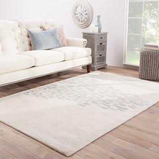 "Shoal Handmade Animal White/ Blue Area Rug (3'6"" X 5'6"")"