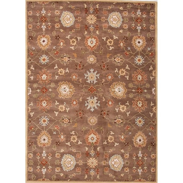 "Savani Handmade Floral Brown/ Multicolor Area Rug (9'6"" X 13'6"")"