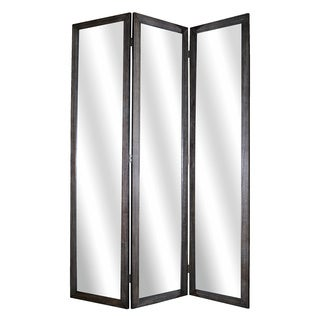 3-Panel Wooden Mirror Screen (China)