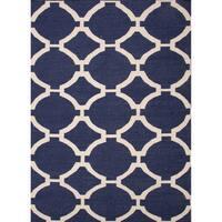 Cavanaugh Handmade Trellis Blue/ Cream Area Rug - 2' x 3'