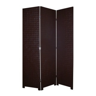 Criss Cross 3-Panel Faux Leather Screen (China)