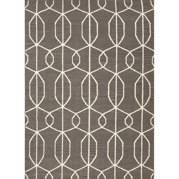 Shop Handmade Geometric Gray/ Silver Area Rug (8' X 10