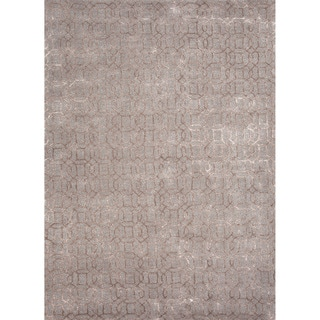 Hand-tufted Transitional Tone-on-Tone Blue Rug (9'6 x 13'6)