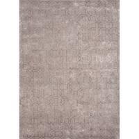 "Foster Handmade Geometric Gray/ Tan Area Rug (9'6"" X 13'6"")"