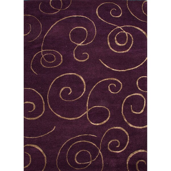 Hand-tufted Transitional Abstract Pink/ Purple Rug (9'6 x 13'6)