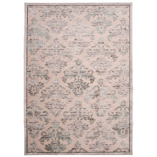 Transitional Floral Pattern Ivory Rug (2' x 3')