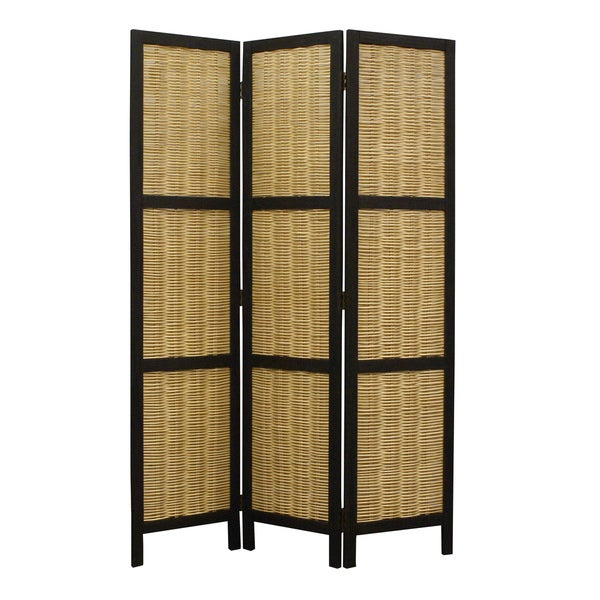 Handmade Hudson 3-Panel Wooden Screen (China)