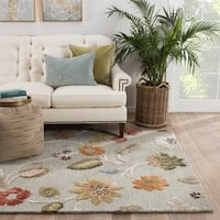 Bloomsbury Handmade Floral Light Blue/ Multicolor Area Rug - 2' x 3'