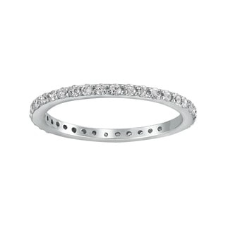 14K White Gold 1/2ct TDW Diamond Stackable Eternity Wedding Band - White H-I