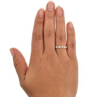 Beverly Hills Charm 14k White Gold 1/4ct TDW Diamond Anniversary Band Ring (H-I, SI2-I1)
