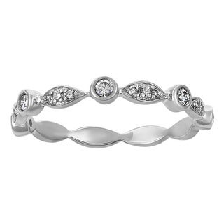 Beverly Hills Charm 14k White Gold 1/4ct TDW Diamond Anniversary Band Ring (H-I, SI2-I1)