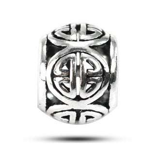 De Buman Sterling Silver Chinese Happiness Symbol Charm Bead