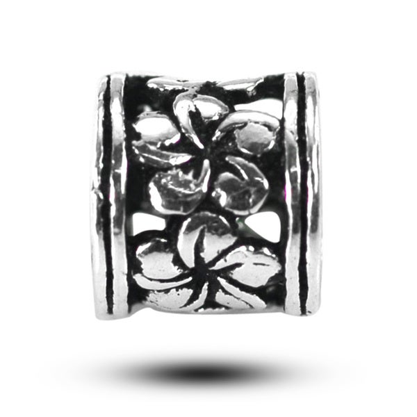 De Buman Sterling Silver Wildflowers Charm Bead