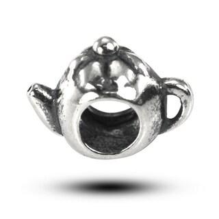 De Buman Sterling Silver Teapot Charm Bead