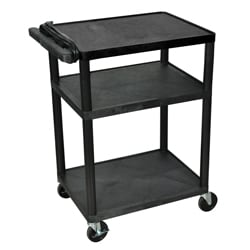 Black 3 Shelf Presentation Station LP34E-B