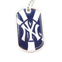 MLB New York Yankees Dog Tag Necklace Charm Chain
