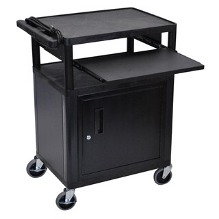Black 3 Shelf Presentation Station LP34CLE-B