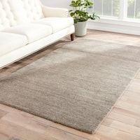 Silas Handmade Solid Gray Area Rug (8' X 10') - 8' x 10'