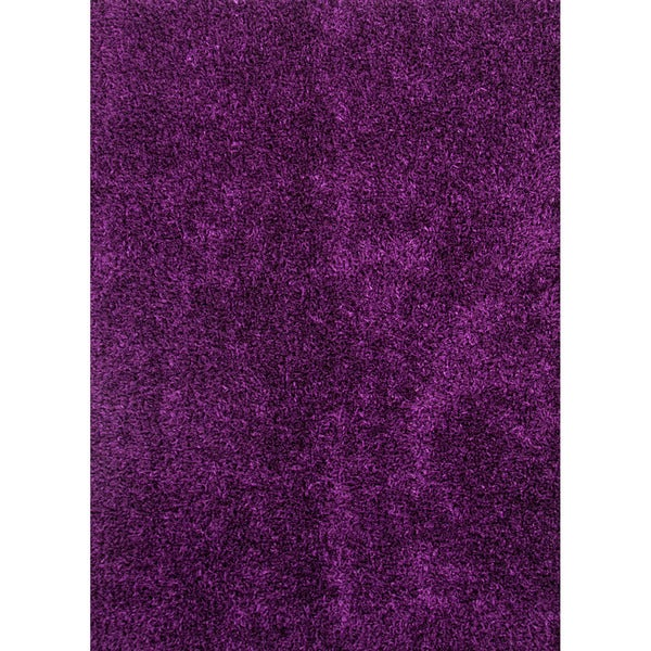 Purple Canvas Rug: Hand-woven Shags Solid Pattern Pink/ Purple Rug (5' X 7'6