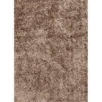 "Vance Handmade Solid Brown Area Rug (3'6"" X 5'6"")"