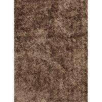 "Vance Handmade Solid Brown Area Rug (5' X 7'6"")"