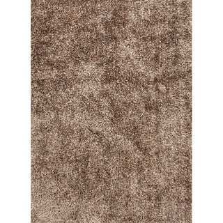 "Vance Handmade Solid Brown Area Rug (7'6"" x 9'6"")"