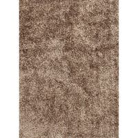 Vance Handmade Solid Brown Area Rug - 7'6 x 9'6