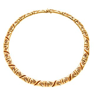 Pre-owned Bvlgari 18k Yellow Gold Saetta Estate Necklace|https://ak1.ostkcdn.com/images/products/8177937/8177937/Bvlgari-18k-Yellow-Gold-Saetta-Estate-Necklace-P15515600.jpg?impolicy=medium