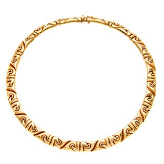 Pre-owned Bvlgari 18k Yellow Gold Saetta Estate Necklace