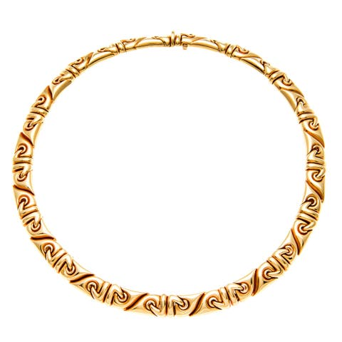 Bvlgari 18k Yellow Gold Saetta Estate Necklace (Pre-owned)