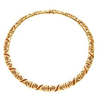 Bvlgari 18k Yellow Gold Saetta Estate Necklace (Pre-owned)