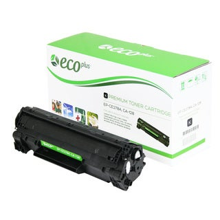 EcoPlus HP Remanufactured Black Toner Cartridge CE278A