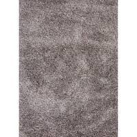 Axel Solid Silver/ Tan Area Rug (8' x 10') - 8' x 10'