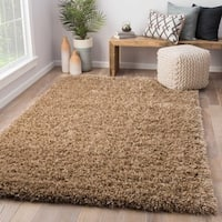 Axel Solid Tan Area Rug (8' x 10') - 8' x 10'