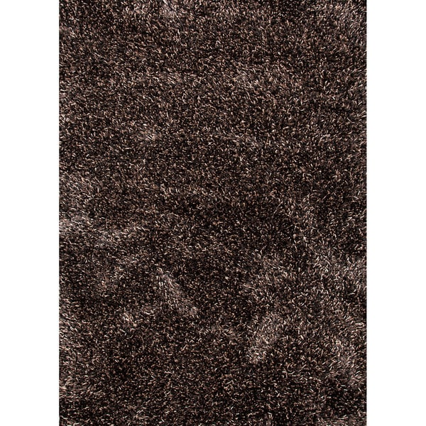Axel Solid Black/ Brown Area Rug - 5' x 8'