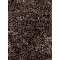Axel Solid Black/ Brown Area Rug (5' X 8') - 5' x 8'