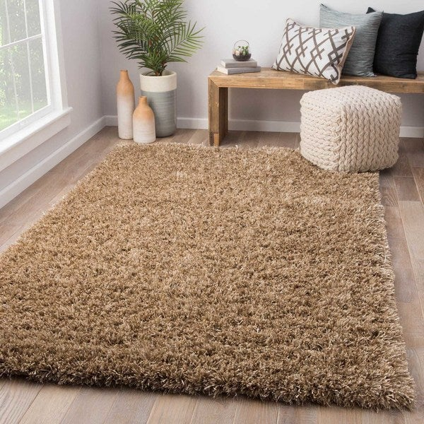 Axel Solid Tan Area Rug (5' X 8')