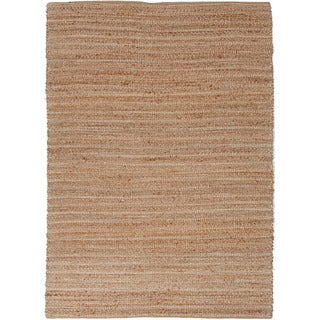 "Solis Natural Solid Tan/ White Area Rug (2'6"" x 4')"