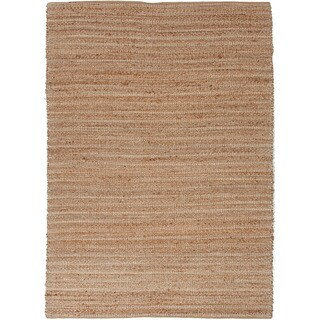 Solis Natural Solid Tan/ White Area Rug (8' x 10')