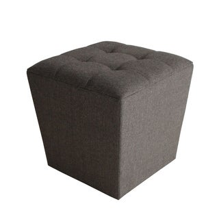 Mandalay Tweed Cube Ottoman (China)