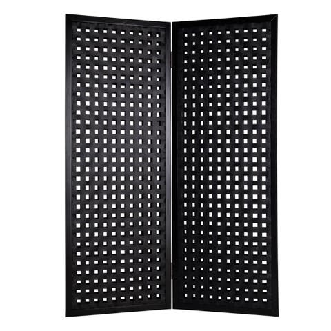Handmade Bellamy 2-Panel Leather Screen (China)