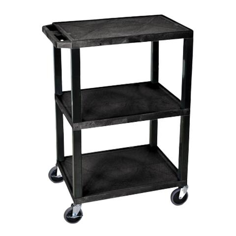 Luxor 3 Shelf Multipurpose Utility Cart - Black