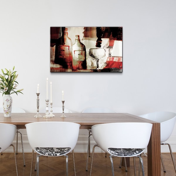 Overstock Wall Art ready2hangart 'abstract wine ' gallery-wrapped canvas wall art