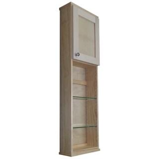 Shaker Series 48-inch 4-shelf Glass/ Wood Wall Cabinet