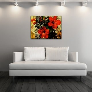 Ready2HangArt 'Tropical Hibiscus' Canvas Wall Art