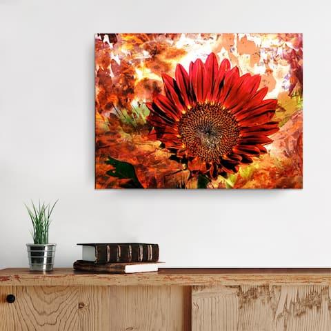 Ready2HangArt 'Daisy Flower' Gallery-wrapped Canvas Wall Art