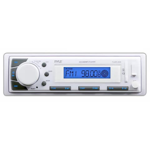 Pyle PLMR20W Marine In-Dash Receiver with AM/FM Radio, AUX Input for iPod/MP3 Players & SD/USB Memory Readers
